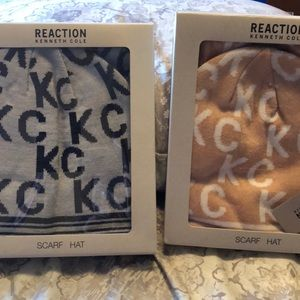 Kenneth Cole reaction scarf and hat